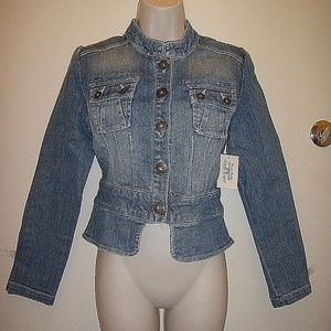Gorgeous GUESS Jeans Blue Denim tapered Jacket
